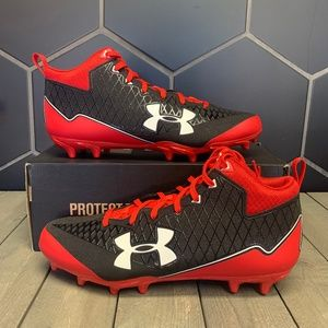 Under Armour Team Nitro Select Mid MC Red Cleats